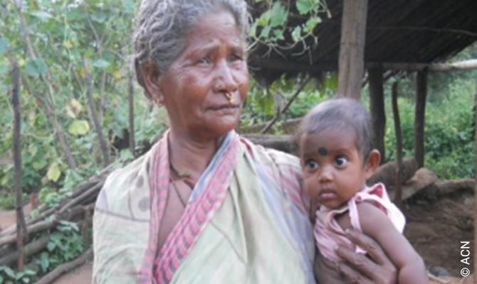 Ayuda para ancianos y enfermos en la provincia de Rourkela.