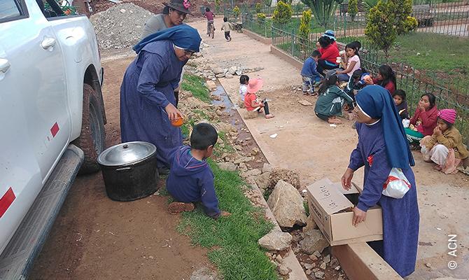 Die pastorale Arbeit der Schwestern der Pfarrei der Unbefleckten Empfängnis von Canaria in Ayacucho wird von ACN unterstützt.