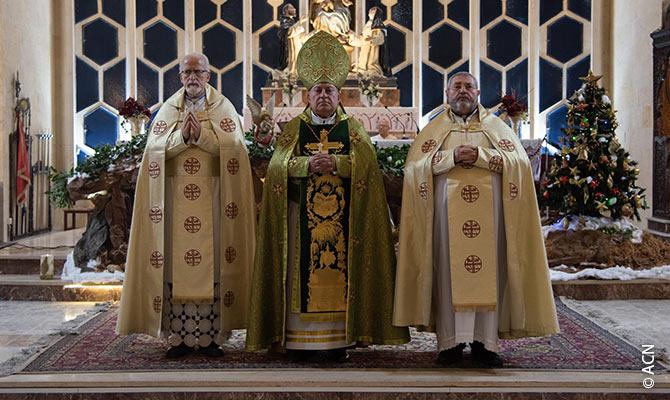Os líderes da Igreja de Aleppo celebram o 20º aniversário da ordenação episcopal do Arcebispo Antoine Shahda.