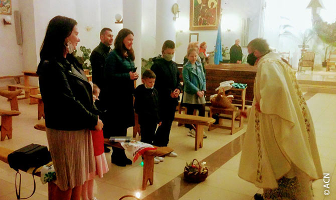 Holy Mass in Ukraine.