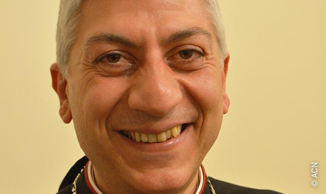 Monsignore Joseph Tobji, dem maronitischen Erzbischof von Aleppo.
