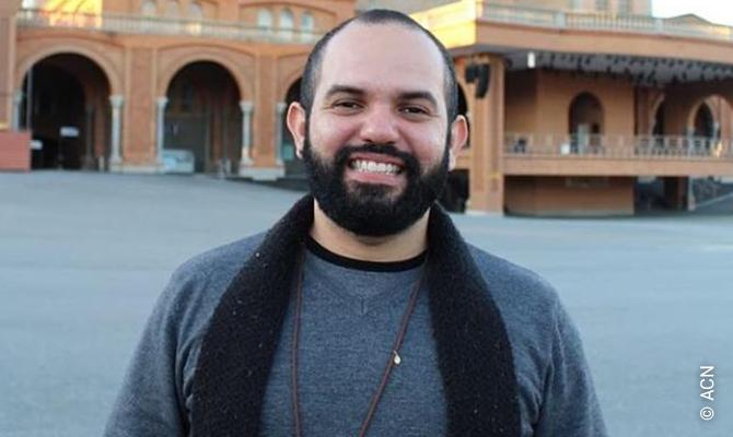 Giannini, Seminarist in Aparecida, wo er sein Pastoralpraktikum absolviert.
