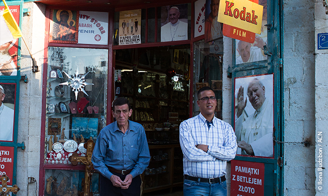 Rony Tabash, owner of the Nativity Store in Bethlehem