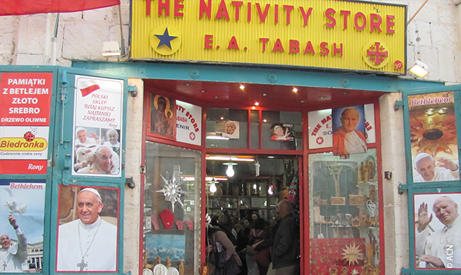 """""""My grandfather opened a store near the Nativity Church in 1927. My father took over in 1955 and I came in 2003,"""" Rony Tabash"""