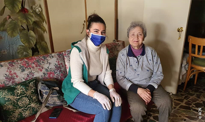 The Congregation of Jesus and Mary supervises another aid programme in the capital Damascus for over 100 families. Many of these families include very elderly members living in conditions where the sanitation is extremely bad