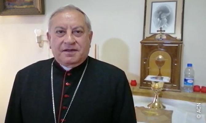 Monseñor Antoine Chahda, arzobispo católico sirio de Alepo.
