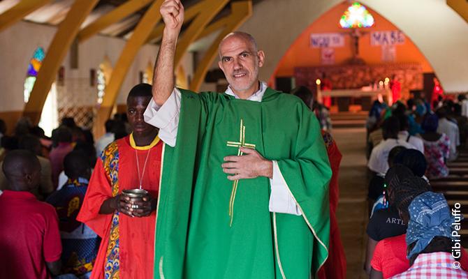 The 58-year-old Italian Carmelite Father Aurelio Gazzera.