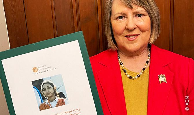 Fiona Bruce, envoyée spéciale du Premier ministre pour la liberté de religion ou de croyance.