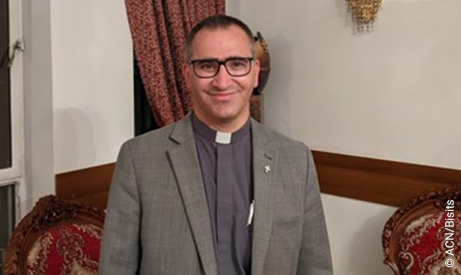 Fr. Ameer Jaje OP, Director of the Arab Section at the International Dominican University in Paris. Fr. Jaje OP at the Latin archdiocese in Baghdad. Fr. Jaje led the organizing of the Pope's trip to the city of Ur, the birthplace of Abraham.