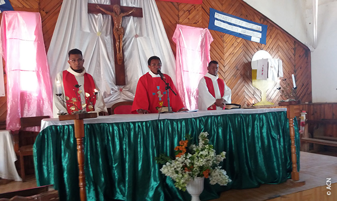 Father Daniel Richard Rafenomanana, the parish priest, and his two fellow priests