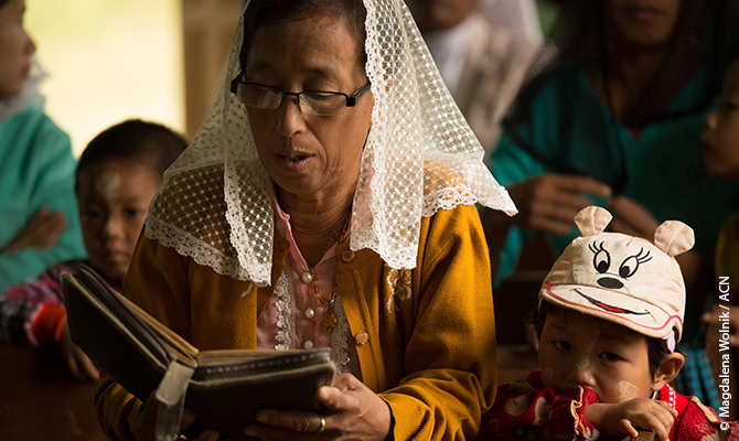 Only about eight percent of the inhabitants of Myanmar are Christians.