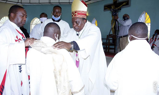 Bishop Paluku Sikuli Melchisédech of the diocese of Butembo-Beni, in the east of the Democratic Republic of the Congo.