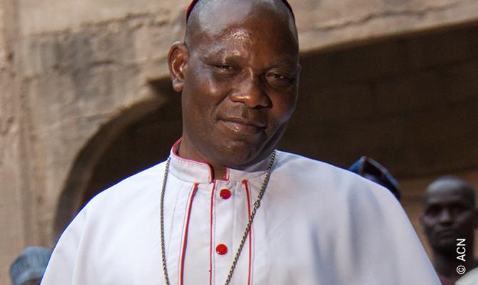 Mons. Oliver Dashe Doeme, el obispo católico de Maiduguri, al noreste de Nigeria.
