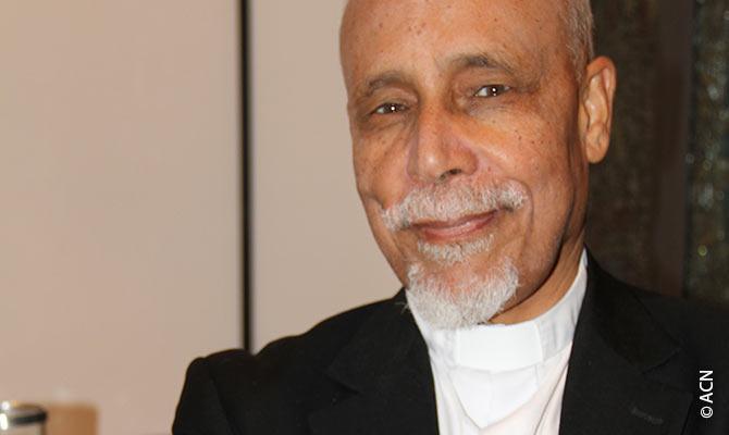 El obispo copto católico de Assiut, Kyrillos Samaan.