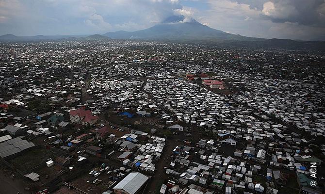 L'éruption volcanique dans l'est de la République Démocratique du Congo.