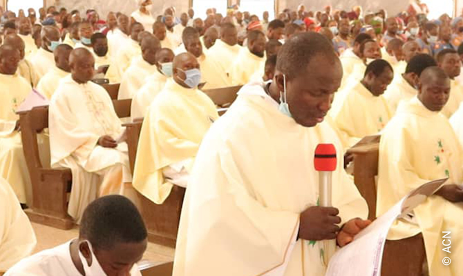 The funeral mass celebrated at Our Lady's Church in Kaduna.