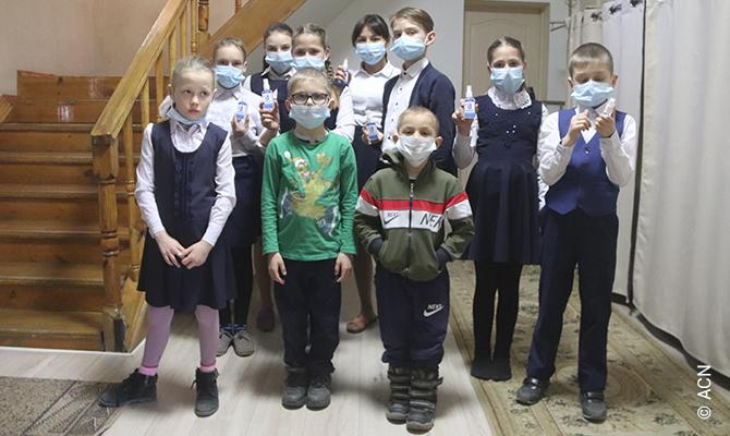 ACN sostiene le suore che si occupano degli orfani a Kapshagay, in Kazakistan.