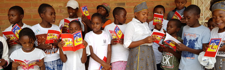 Distribution of Child's Bible in Zimbabwe