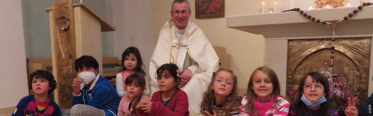 Children from all over the world prayed the Rosary for peace