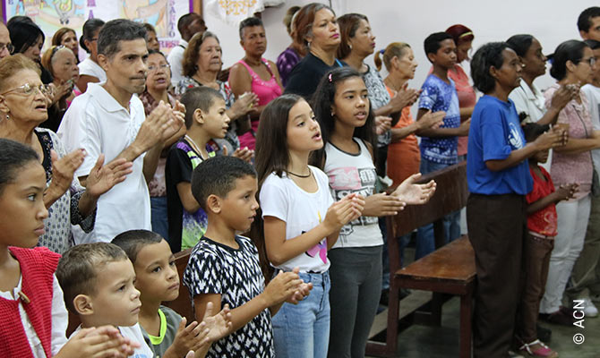 Mass in the diocese of La Guaira.