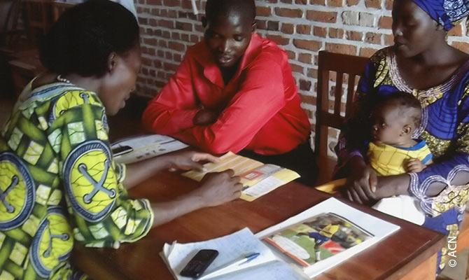 Family pastoral care in Cyangugu in southwestern Rwanda.