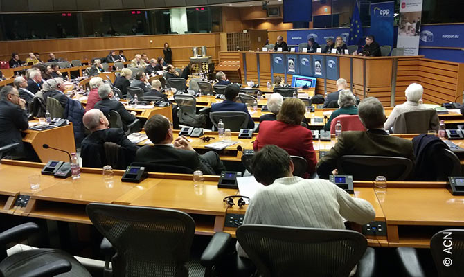 "Conference ""Christmas after Daesh: Hope reborn for Christians in the Middle East"" at European Parliament, Brussels, Belgium December 5th, 2017."
